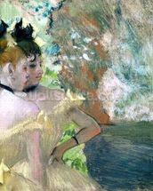 Dancers in the Wings (pastel on paper) wallpaper mural thumbnail