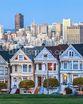 Victorian Houses, San Francisco mural wallpaper thumbnail