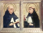 Two Dominican Saints (oil on panel) wall mural thumbnail