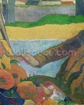 Van Gogh painting Sunflowers, 1888 (oil on canvas) wallpaper mural thumbnail