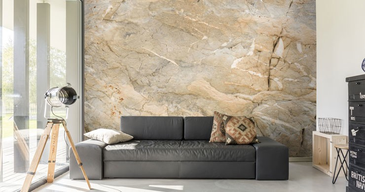 light brown marble in open light lounge