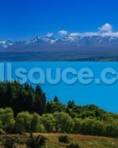 Mt. Cook from Lake Pukaki wall mural thumbnail