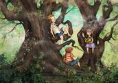 Children Three that Nestle Near wallpaper mural thumbnail