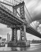 New York Bridge mural wallpaper thumbnail