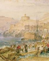 St. Mawes, Cornwall, c.1823 (w/c on paper) mural wallpaper thumbnail