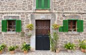Village House with Green Shutters mural wallpaper thumbnail
