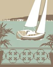 Sandbanks Balcony 2 wall mural thumbnail