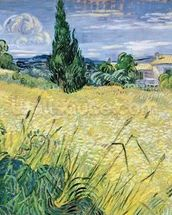 Landscape with Green Corn, 1889 (oil on canvas) wall mural thumbnail