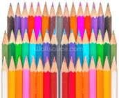 Rows of Coloured Pencils wall mural thumbnail