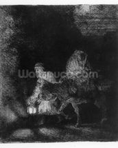 The Flight into Egypt, 1651 (etching) wallpaper mural thumbnail