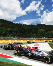 Lap 1 Turn 2 Austria 2014 wall mural thumbnail
