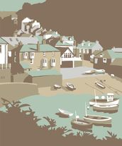 Port Issac mural wallpaper thumbnail