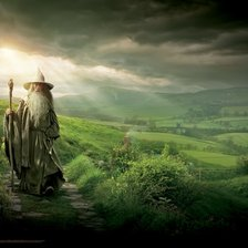 Gandalf in The Shire, The Hobbit mural wallpaper