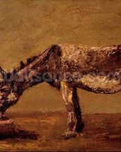 The Donkey (oil on canvas) mural wallpaper thumbnail