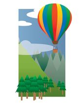 Balloon Ride in the Sky (2013) mural wallpaper thumbnail