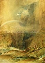 Devils Bridge, St. Gotthards Pass, c.1804 (w/c and white wax crayon on wove paper) wallpaper mural thumbnail