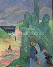The Green Christ (Breton Calvary) 1889 (oil on canvas) mural wallpaper thumbnail
