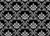 Damask - Black wallpaper mural thumbnail