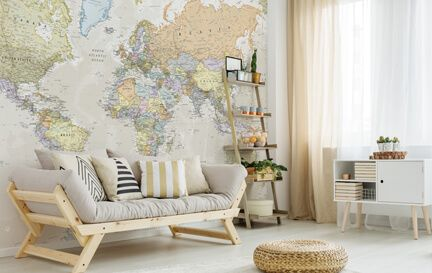 World map wallpaper wall murals wallsauce australia world map wallpaper wall mural wallpaper gumiabroncs Image collections