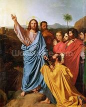 Jesus Returning the Keys to St. Peter, 1820 (oil on canvas) wall mural thumbnail