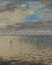 Sea Viewed from the Heights of Dieppe (oil on canvas) wall mural thumbnail