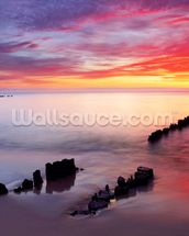 Baltic Sea Sunrise wallpaper mural thumbnail