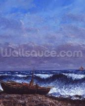 The Stormy Sea or, The Wave (oil on canvas) mural wallpaper thumbnail