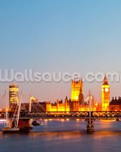 London Eye Panorama mural wallpaper thumbnail