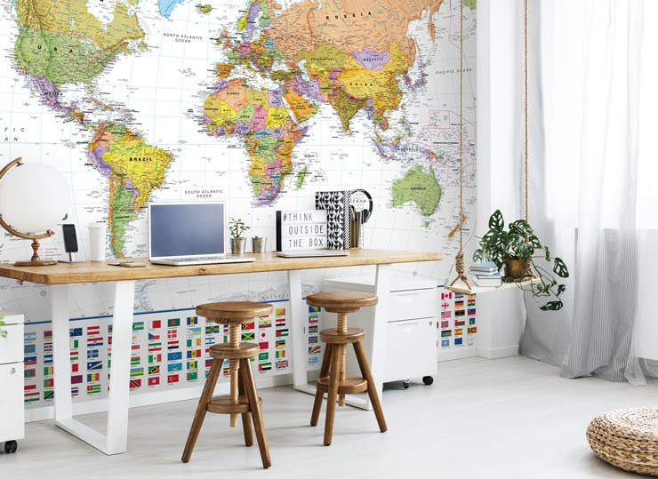 colourful-map-mural-in-study