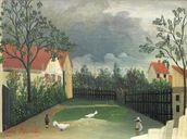 The Farm Yard, 1896-98 (oil on canvas) wall mural thumbnail