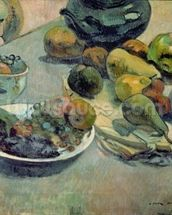 Still Life with Fruit, 1888 (oil on canvas) mural wallpaper thumbnail