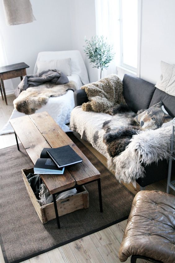 Winter interior decor example