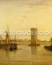 Tabley, the Seat of Sir J.F. Leicester, Bart.: Calm Morning, c.1809 wall mural thumbnail