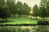 Dawn Sunray, Cottesmore Hotel Golf & Country Club, West Sussex, England mural wallpaper thumbnail
