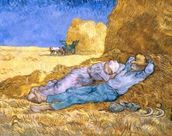 Noon, or The Siesta, after Millet, 1890 (oil on canvas) wall mural thumbnail