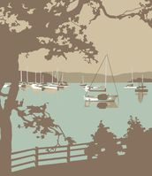 Poole Harbour View wallpaper mural thumbnail