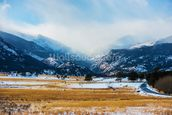 Mountains Winter Scenery wallpaper mural thumbnail
