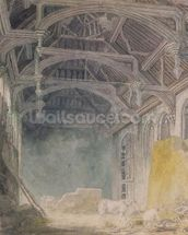 Interior of St. Johns Palace, Eltham, c.1793 (w/c over graphite on paper) wall mural thumbnail