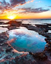 Maori Bay Sunset wall mural thumbnail