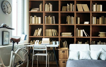 Bookcase Wallpaper Wall Murals Wallpaper