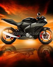 Motorcycle Skyline Horizon wall mural thumbnail