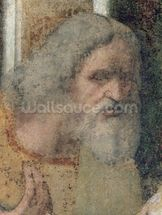 The Last Supper, 1495-97 (fresco) (post restoration) (detail of 161739) wallpaper mural thumbnail