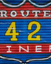 Route 42 wallpaper mural thumbnail