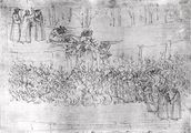 Purgatory, from The Divine Comedy by Dante Alighieri (1265-1321) c.1480 (pen & ink on paper) wallpaper mural thumbnail
