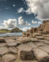 Cloudy Day on Giant's Causeway wallpaper mural thumbnail