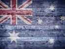 Australian Flag on Wood wall mural thumbnail