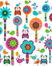 Colourful Flowers wallpaper mural thumbnail