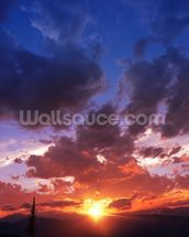 Mountain Range Sunset wall mural thumbnail