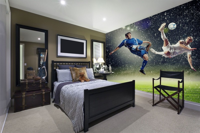 Football-wallpaper-in-boys-bedroom