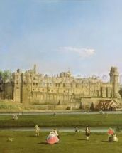 Warwick Castle, c.1748-49 (oil on canvas) wall mural thumbnail